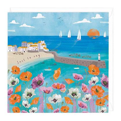 Coastal Poppies Just To Say Card