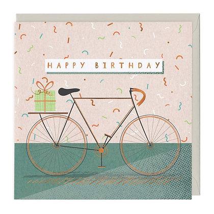 Retro Bicycle Happy Birthday Card