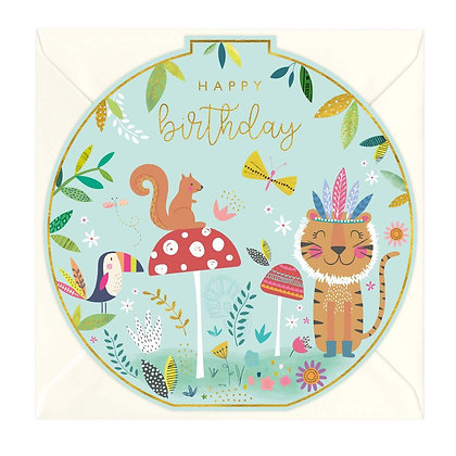 Animals Children's Birthday Round Card