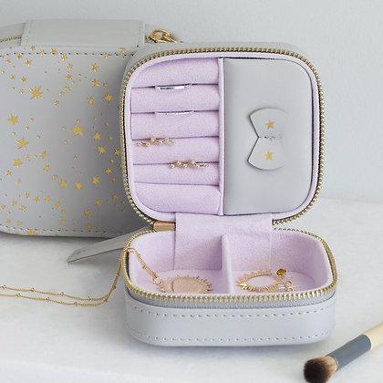 Mini Square Stars Jewellery Box in Grey