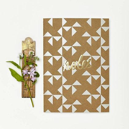 Katie Leamon Kraft Grey Windmill Notebook