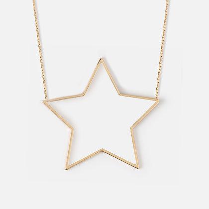 Orelia Large Open Star Necklace
