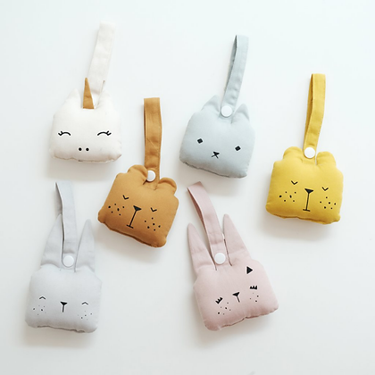 Fabelab Baby Rattle - Bear, Cat and Bunny