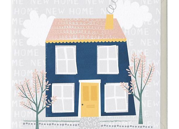 Big Blue House New Home Card
