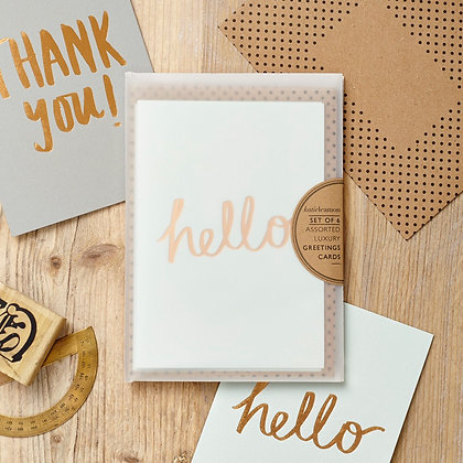 Katie Leamon 'Hello and Thank You' Card Set