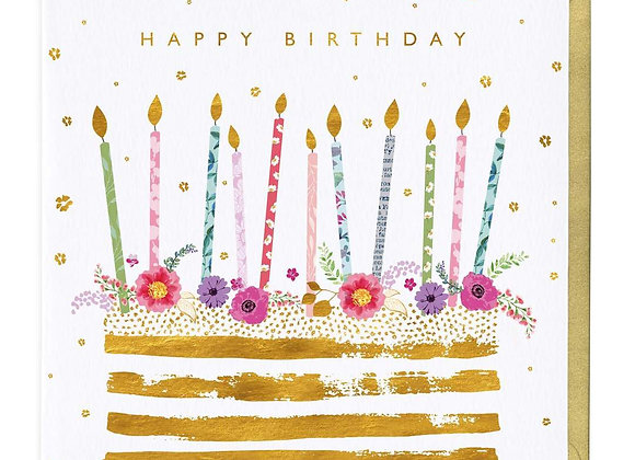 Happy Birthday Golden Cake