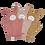 Thumbnail: Fabelab Organic Bath Mitts - Bunny & Old Rose Mix - 3 Packs