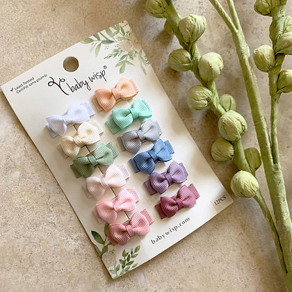 Baby Wisp - Snap Clips 12 Pack - Classics