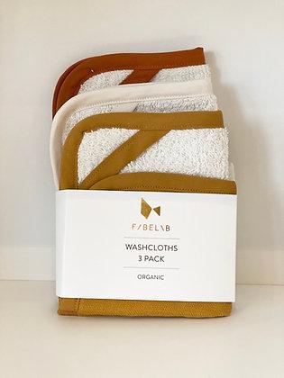 Organic Washcloths - 3 Pack - Wood