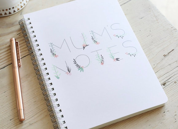 'Mum's Notes' A5 Notebook