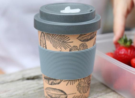 Leaf Print Bamboo Travel Mug