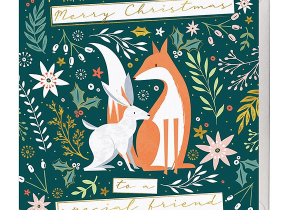 To A Special Friend Christmas Card