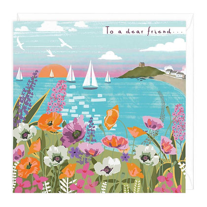 Coastal Scene To A Dear Friend Card
