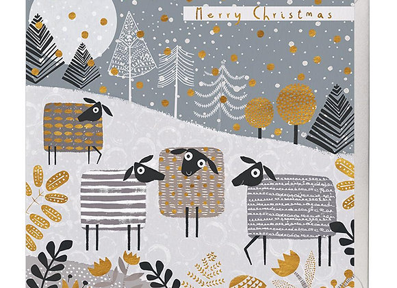 Festive Sheep Christmas Card