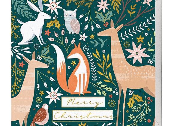 Woodland Friends Christmas Card