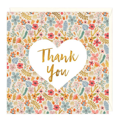 Ditzy Floral Thank You Card