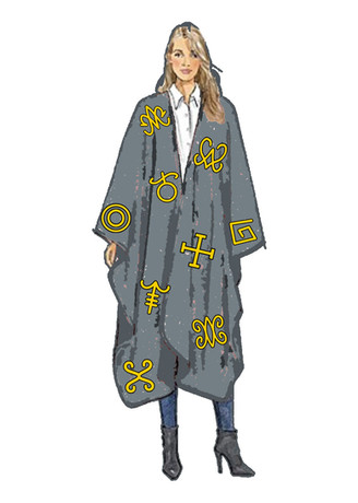 Symbol Cape with Cunanciform Symbols