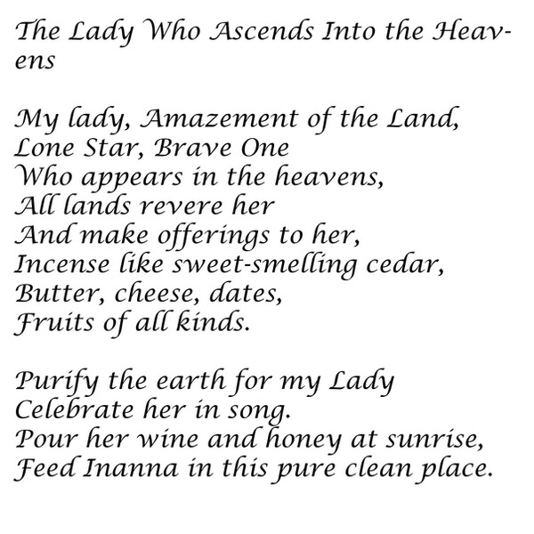 The Lady Who Ascends Into the Heavens