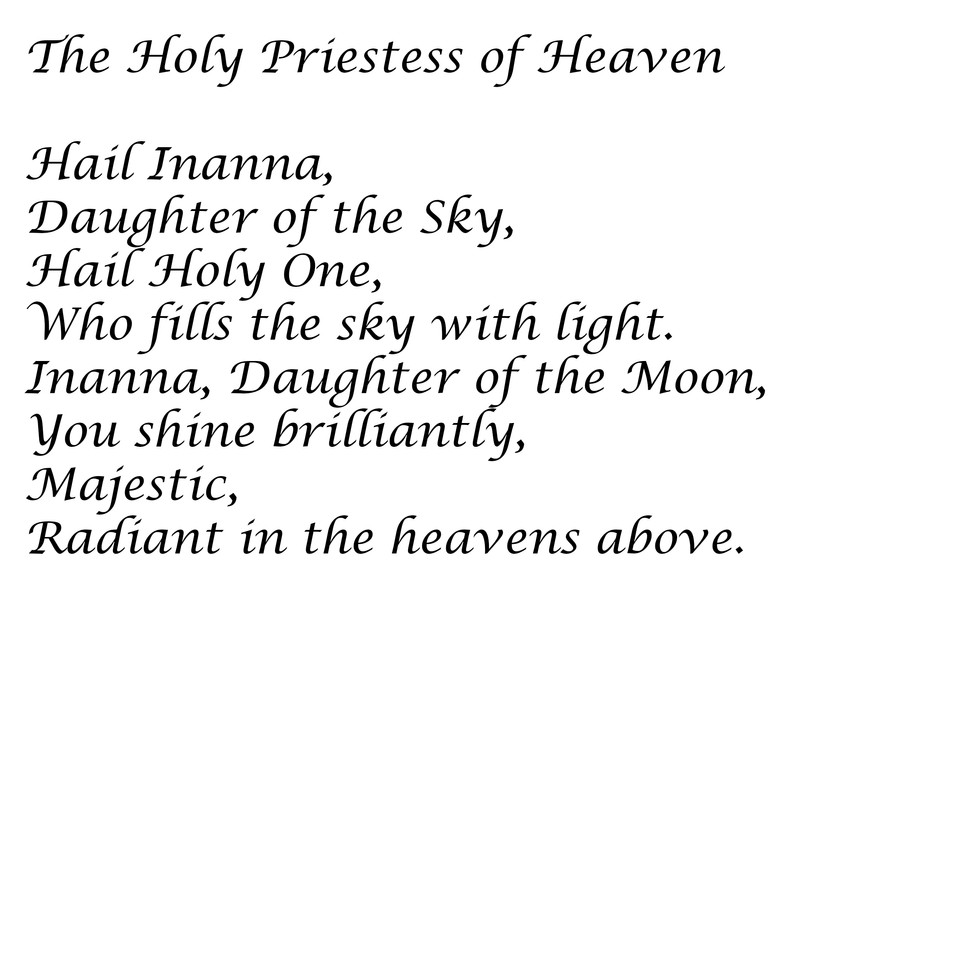 The Holy Priestess of Heaven