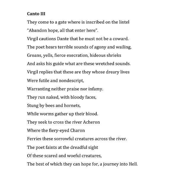 Canto 3 Libretto