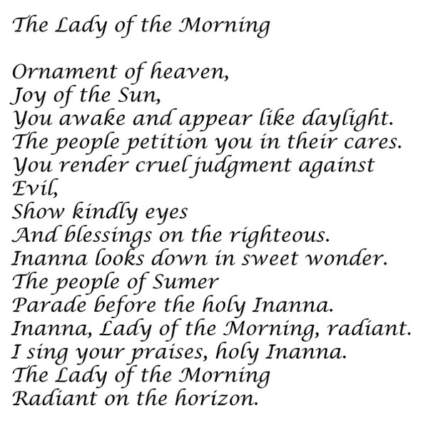 The Lady of the Morning