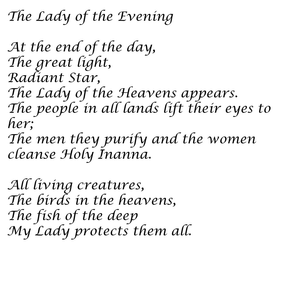 The Lady of the Evening