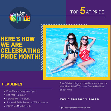 TOP 5 @ PRIDE | Here's How We Are Celebrating Pride
