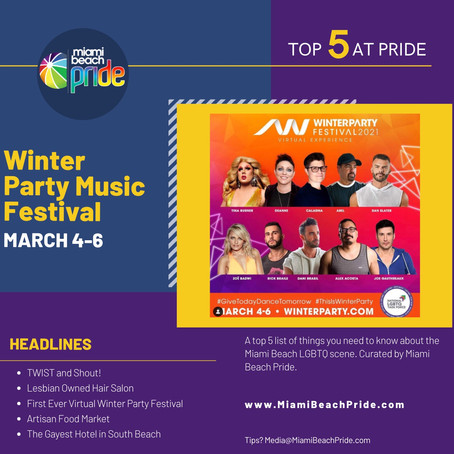 TOP 5 @ PRIDE | Winter Party Festival hosts its first ever virtual event!
