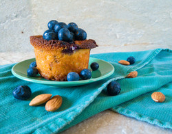 Gluten Free Almond Cakes with Blueberries