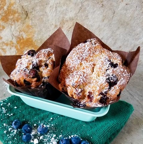 Blueberry Lemon Ricotta Muffin