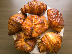 Plain Croissant, Chocolate Croissant, and Kouign Amann