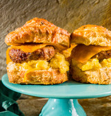 Sausage Egg and Cheese Buttermilk Biscuit Sandwich