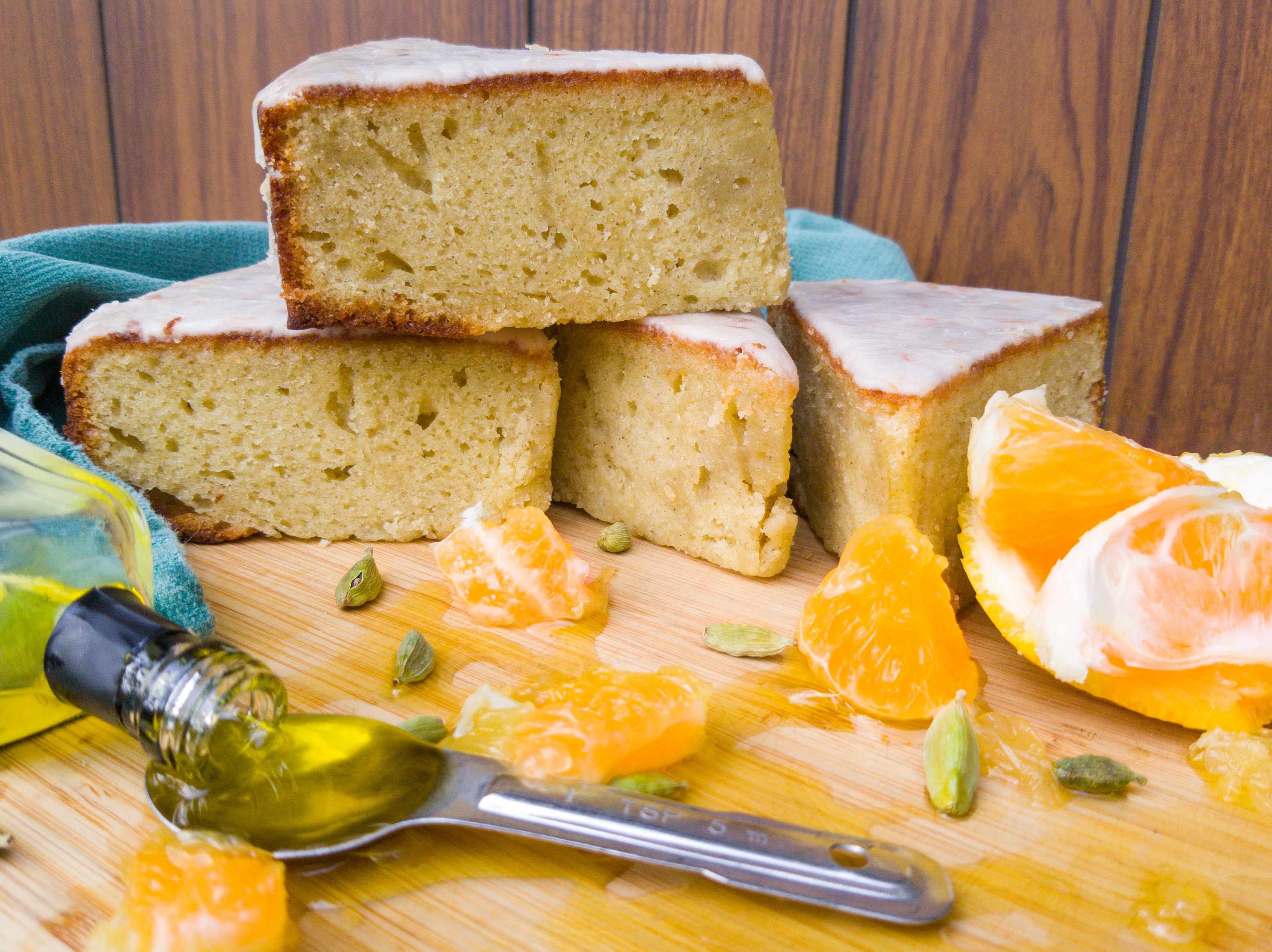 Grapefruit Olive Oil Snack Cake with Cardamom