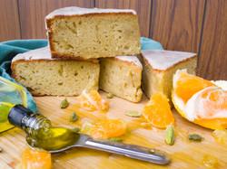 Grapefruit Olive Oil Snack Cake with Cardamom