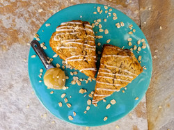 Honey Whole Wheat Oat Scones