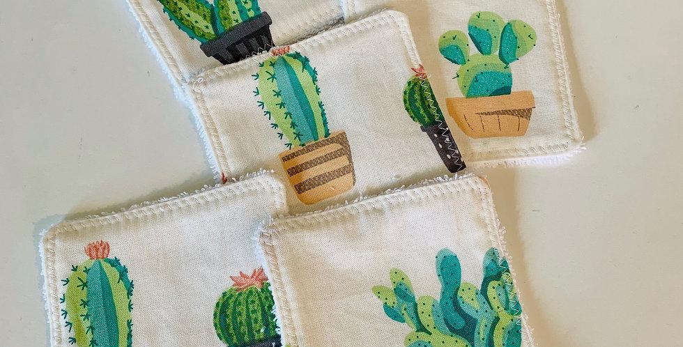 Reusable cotton Square - Cactus Combo