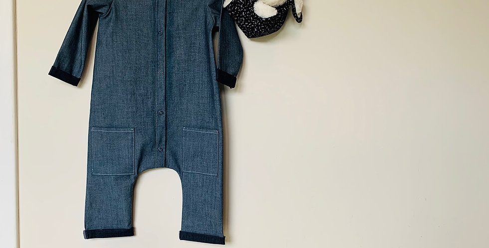 Jeans Playsuit - Baby and kids