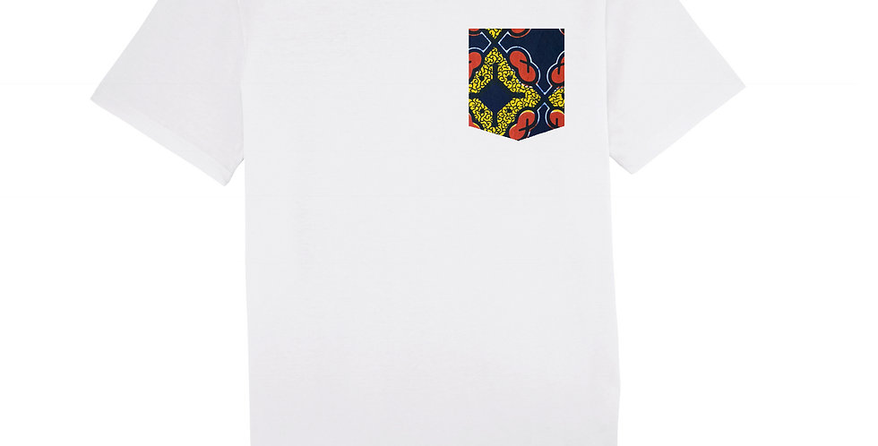 WAX yellow, red and blue - organic cotton unisex T-shirt