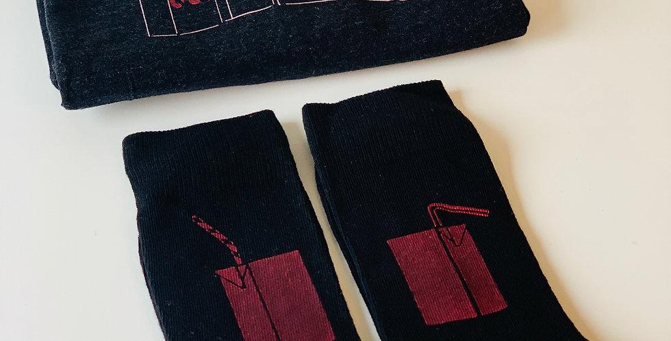 BLACK Adult box - T-shirt + socks