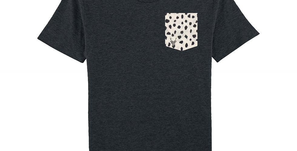 Cerf à lunettes noir - organic cotton unisex T-shirt