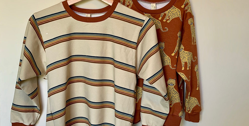 Vintage Lines Lounge Sweatshirt - Baby and kids