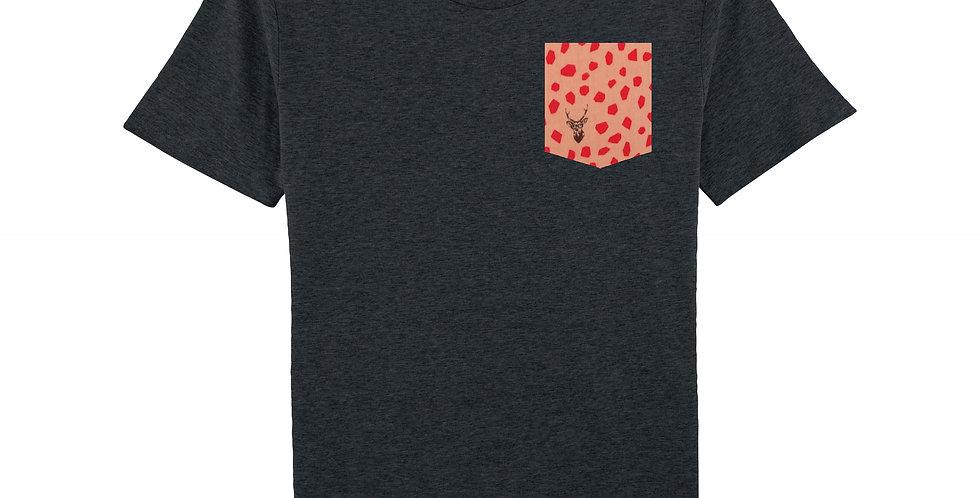 Cerf à lunettes rose - organic cotton unisex T-shirt