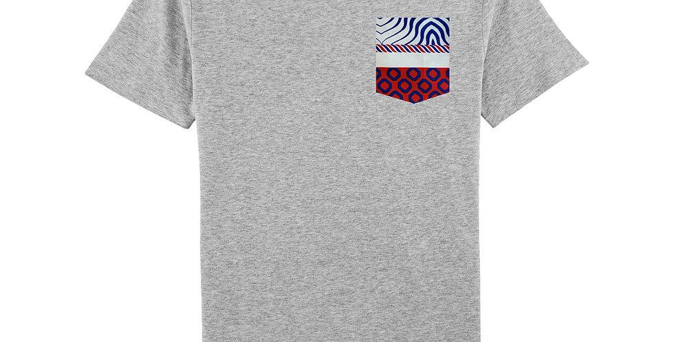WAX red & blue - organic cotton unisex T-shirt