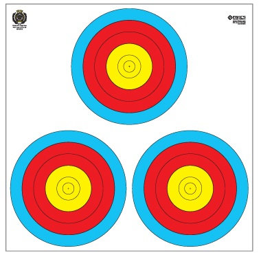 Fivics Outdoor (3X40W) 5-Ring Triangular Target Face