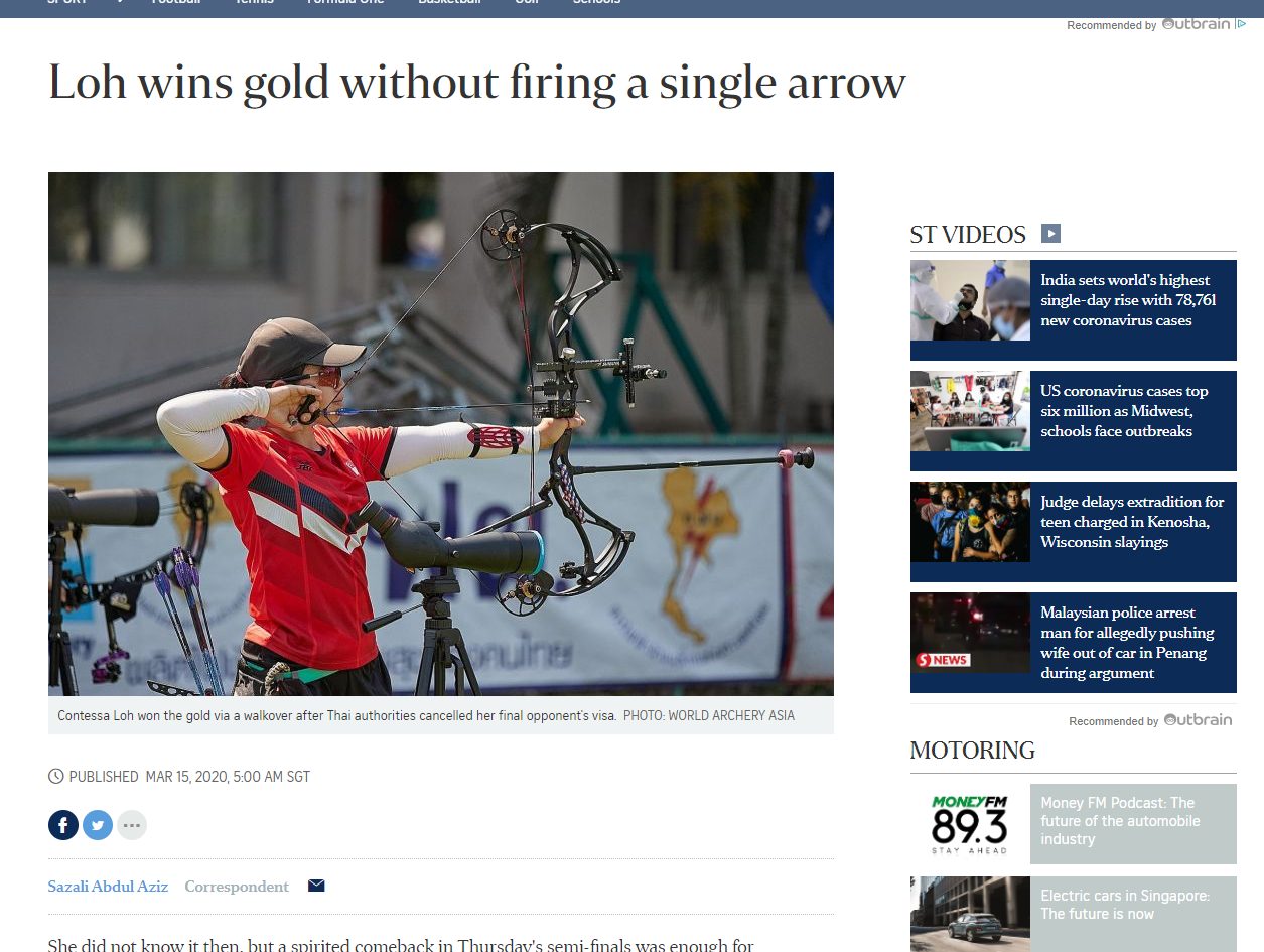 Feature by The Straits Times, Muhammad Sazali Abdul Aziz