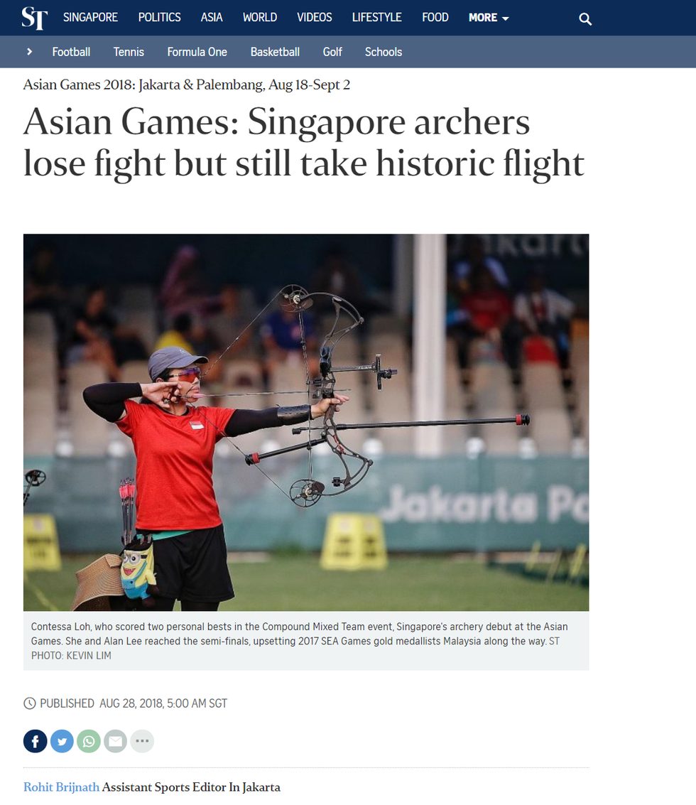 Feature by The Straits Times, Rohit Brijnath