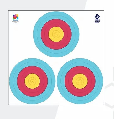 Fivics Outdoor 3x48W 6 Ring Target Face