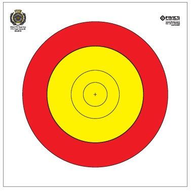 Fivics Training 80cm Centerspot Target Face (8 Line)