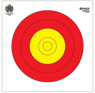 Fivics Training 122cm Centerspot Target Face (7 Line)