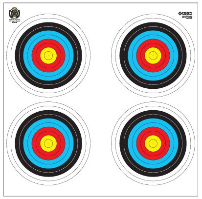 Fivics Indoor 40cm (4X40W) Single Target Face